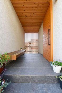34 Trendy Home Dream Exterior Entrance Japanese Interior Design, Home Interior Design, Exterior Design, Entrance Design, House Entrance, Japanese Architecture, Architecture Design, U Shaped Houses, Japanese Modern House