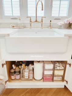 Under Sink Organization – How to Organize Under a Kitchen Sink Home Organisation, Bathroom Organization, Bathroom Storage, Pantry Organization, Under Sink Storage, Organize Under Sink, Organization Ideas For Bedrooms, Apartment Kitchen Organization, Extra Storage