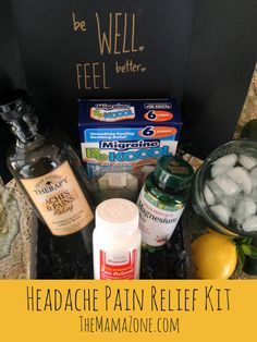 Create this inexpensive Headache Pain Relief kit for yourself or a loved one, complete with everything you need for quick, effective pain relief.