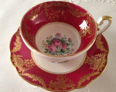 Foley Tea Cup And Saucer by BullwinklesAttic on Etsy