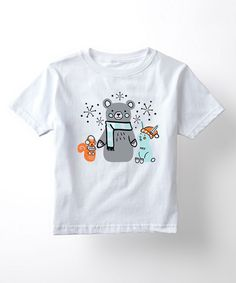Look at this White Winter Woodland Animals Tee - Toddler & Kids on #zulily today!