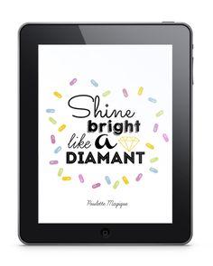 Shine bright like a diamant ! Bright, Wallpaper, Frame, Fonts, Ipad, Decor, Magic, Diamond, Picture Frame