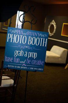 Wedding, Reception, Green, Blue, Black, Inspiration board, Sign, Photobooth