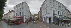 Cruzamento da t-Zand e Zuidzandstraat, Bruges.