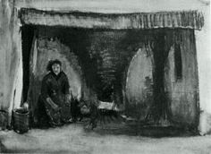 Woman by the Fireplace - Vincent van Gogh