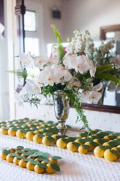 lemon escort cards + orchids  Photography: leila brewster - leilabrewsterphotographyblog.com  Read More: http://www.stylemepretty.com/2014/02/13/block-island-wedding-at-the-spring-house-hotel/
