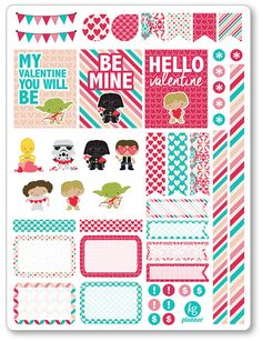 Valentine Heroes Decorating Kit / Weekly Spread by PlannerPenny