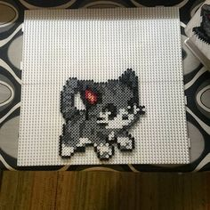 Cat perler beads by muskelsmurf
