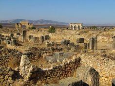 Ancient Ruins morocco | Volubilis, ancient Roman ruins. Morocco, north of Meknes. Morocco has ...
