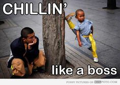 Chillin' like a boss