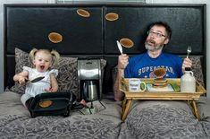Un photographe laisse des souvenirs uniques pour sa fille lorsqu'elle sera grande.