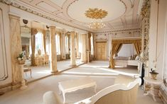 The best stately home wedding venue award goes to Gosfield Hall, a stunning Georgian mansion in rural Essex and former royal residence. Their bridal suite, pictured, is one of two, and the perfect place to end your wedding night. Wedding Venues Essex, Country House Wedding Venues, Beautiful Wedding Venues, Best Wedding Venues, Wedding Ideas, Wedding Planning, Glamorous Wedding, Wedding Locations, Wedding Night