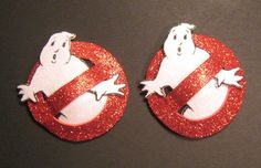 Custome order for phoebe Glittery Ghostbusters pasties