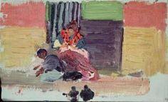 Cosiendo. 1904