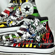 Superman DC Comics Converse All Star High Top Sneakers 5 Chuck Taylor Women's 7 #Converse #AthleticInspired