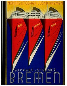 Bremen Lines travel poster