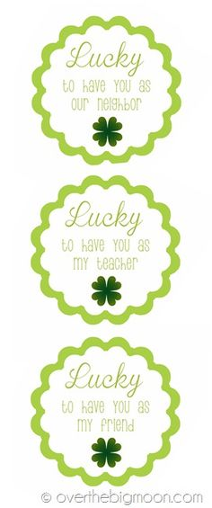 Lucky tags to show appreciation for those around you on St Patrick's Day!