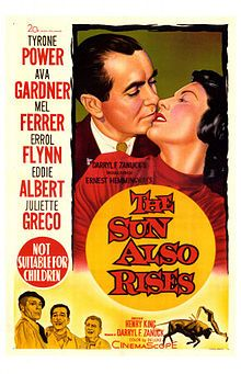 The Sun Also Rises // Directed by Henry King Produced by Darryl F. Zanuck Written by Ernest Hemingway (novel) Peter Viertel Starring Tyrone Power Ava Gardner Mel Ferrer Errol Flynn Release date(s) August 1957 Old Movies, Vintage Movies, Movie Photo, I Movie, Ernest Hemingway, Ava Gardner Movies, Witness For The Prosecution, The Sun Also Rises, Movie Posters