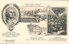 Een aanzichtkaart uit 1905 ter gelegenheid van het honderdste sterfjaar van Schiller