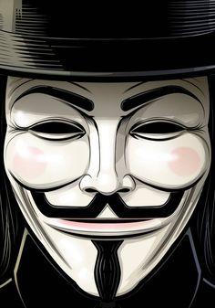 Guy Fawkes V for Vendetta by Thuddleston on DeviantArt Art Du Joker, Der Joker, V Pour Vendetta, V For Vendetta Mask, Guy Fawkes Mask, Hacker Wallpaper, Horror Artwork, Illustration Art, Illustrations