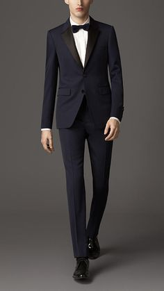 Blue isn't just for a basic suit. It's becoming more popular in formalwear, and is a dapper update for the modern man.