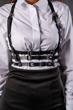 Pin on Products Pin on Products Gothic Fashion, Girl Fashion, Fashion Outfits, Womens Fashion, Kleidung Design, Mode Lolita, Mode Chanel, Leather Lingerie, Leather Harness
