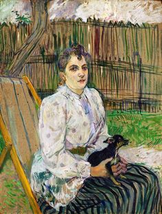 Henri de Toulouse-Lautrec - The Lady with the Dog, National Gallery of Art (Washington)