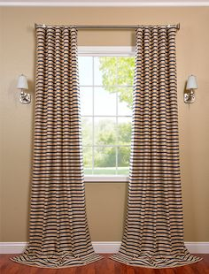 Exclusive Selection of Black Cream Hand Weaved Cotton Curtain