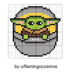 Who Can Resist this Baby Yoda Pattern? - Melty Beads - Who Can Resist this Baby Yoda Pattern? Who Can Resist this Baby Yoda Pattern? Cross Stitch Charts, Cross Stitch Designs, Cross Stitch Kids, Star Trek Cross Stitch, Pokemon Cross Stitch, Mini Cross Stitch, Beaded Cross Stitch, Counted Cross Stitch Patterns, Cross Stitching