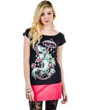 Ladies brand new t shirt by Too Fast Shark Tattoo Fiona Fin Rockabilly Heart