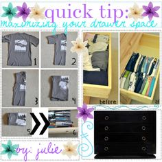 """quick tip: maximize your drawer space!"" by the-tip-girly on Polyvore"