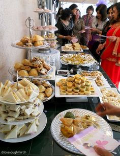 High Tea baby shower dessert buffet  Judith LOVED English Tea while we were there!