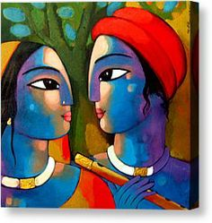 ART : Radha Krishna - Artist Sekhar Roy @ Fine Art America