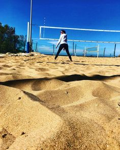 #girls on the #beachvolley #courts #sun #sea #spring