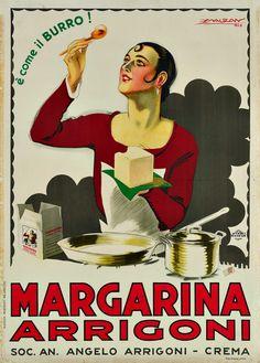 ✔️ Margarina Arrigoni - Crema - Mauzan, 1926