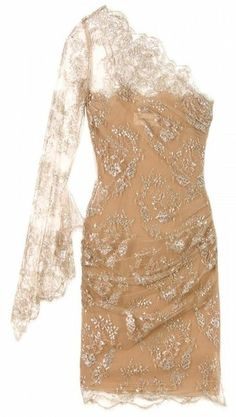 Emilio Pucci One-Shoulder Lace Cocktail Dress