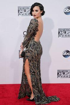Demi Lovato em prêmio de música em Los Angeles, nos Estados Unidos