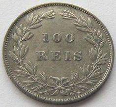 Portugal, Silver Coin, 100 Reis 1886, Top High Grade, Scarce !