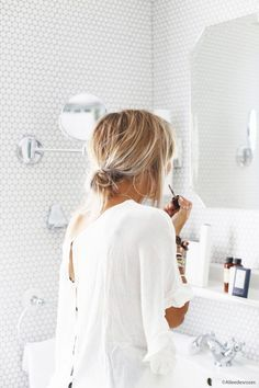 Low loose bun for an easy hairstyle on-the-go