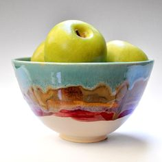 Serving Bowl  handmade  ceramic bowl  turquoise by OneClayBead, $34.00
