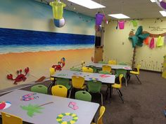 Lovely learning during Surf Shack while in a preschool classroom! From VBS Land in Prattville, AL. cokesburyvbs.com
