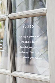 Table Names Etched in Glass  I XOXO BRIDE I http://www.weddingwire.com/biz/xoxo-bride-ojai/portfolio/be70d40cfbc4d9c4.html?page=9&subtab=album&albumId=0b31adc2df0cc2fe#vendor-storefront-content I #rustic #wedding