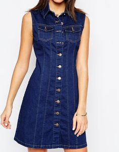 Изображение 3 из Джинсовое платье на пуговицах New Look