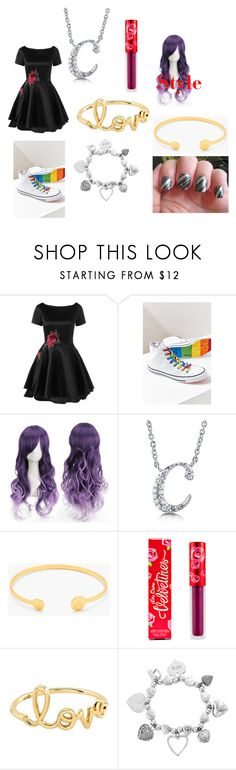 """Crystal Goes to Regulus' Birthday Party"" by rosemarie-lestrange ❤ liked on Polyvore featuring Converse, BERRICLE, Gorjana, Lime Crime, Sydney Evan and ChloBo"