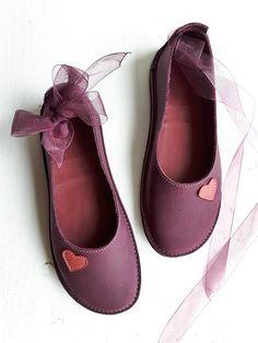 UK 4 Handmade womens Shoes Leather Fairytale shoe ALICE