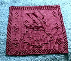 """""""Little Garden Girl"""" is the pattern I designed for our May 2009 Mystery Dishcloth Knit Along in Rachel's Knitting Room"""