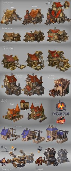 Siege - buildings by Larbesta game user interface gui ui   NOT OUR ART - Please click artwork for source   WRITING INSPIRATION for Dungeons and Dragons DND Pathfinder PFRPG Warhammer 40k Star Wars Shadowrun Call of Cthulhu and other d20 roleplaying fantasy science fiction scifi horror location equipment monster character game design   Create your own RPG Books w/ www.rpgbard.com: