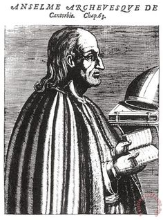 St. Anselm Of Canterbury Painting; St. Anselm Of Canterbury Art Print for sale