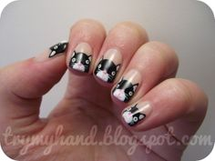 Try My Hand: Alphabet Nail Art Challenge : K for Kittens