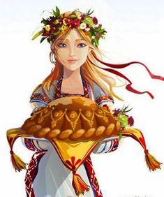 Ukrainian Hospitality ~ Welcome! Ukrainian Tattoo, Ukrainian Art, Ukrainian Christmas, Ukrainian Recipes, Naive Art, Russian Art, My Heritage, Ukraine, Illustration
